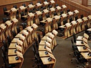 Cadeiras do Senado para votação da autonomia ao BC