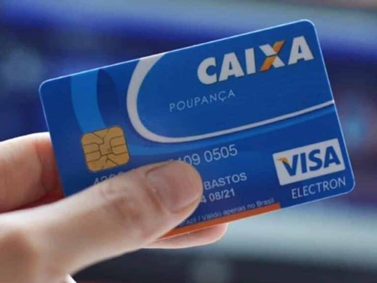 cartão caixa poupança representando desbloquear o cartão caixa poupança