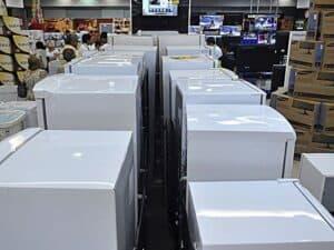Loja de eletrodomésticos na Black Friday