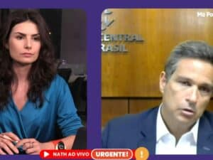 Nathalia Arcuri entrevistando Roberto Campos Neto, do BC, falando sobre inflação alta
