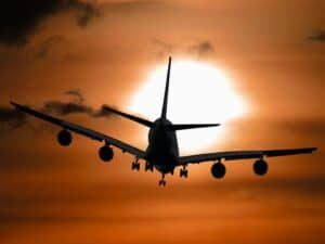 avião, representando black friday passagens aéreas