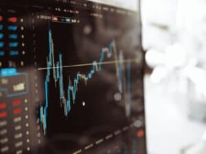 gráfico, representando superar a volatilidade