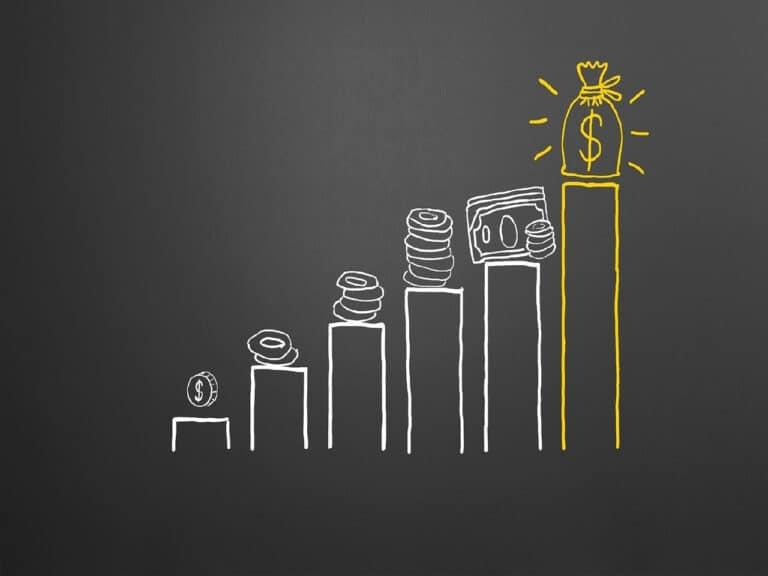 gráfico de barras, representando investir em renda fixa