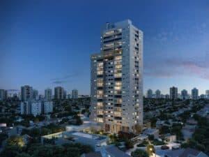 prédio visto a distância, representando Vendas de imóveis crescem