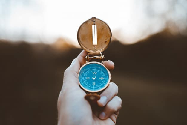 A bússola é uma boa representação de como as metas pessoais e profissionais funcionam na vida