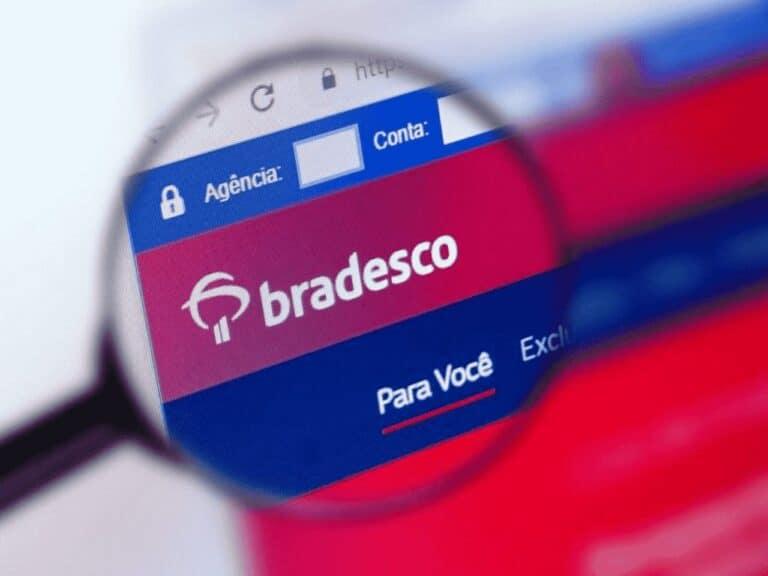 site do bradesco, representando crédito pelo pix