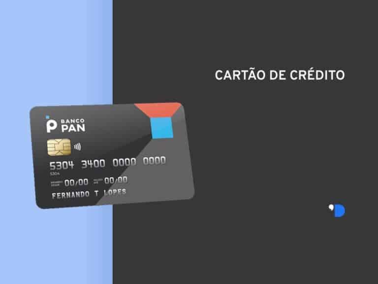 layout com uma imagem do cartão de crédito PAN na lateral esquerdo e escrito cartão de crédito na lateral superior direita