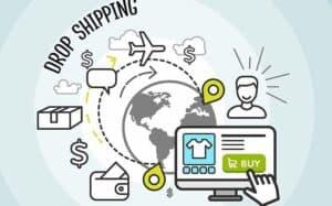 imagem que mostra que o dropshipping pode acontecer de qualquer lugar do mundo a partir da compra pela internet