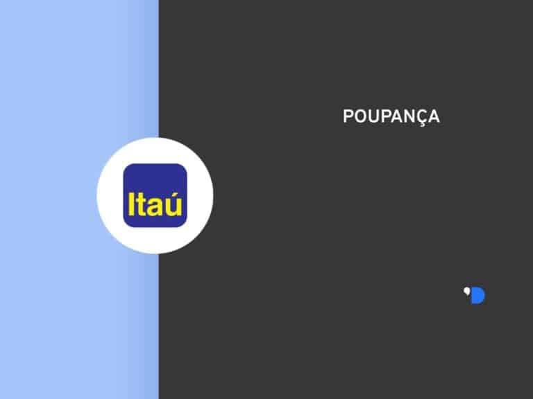 Imagem com a logomarca do banco Itaú e o escrito