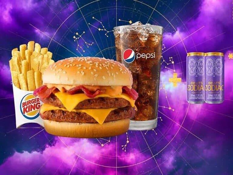 foto de divulgação da campanha do burger king que dará skol beats de graca