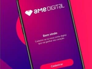 celular mostrando aplicativo ame digital, representando Programa de trainee da Ame
