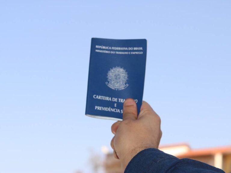 carteira de trabalho, representando vagas na XP e Porto Seguro