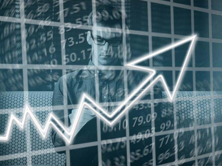 gráfico mostrando quando vender ações