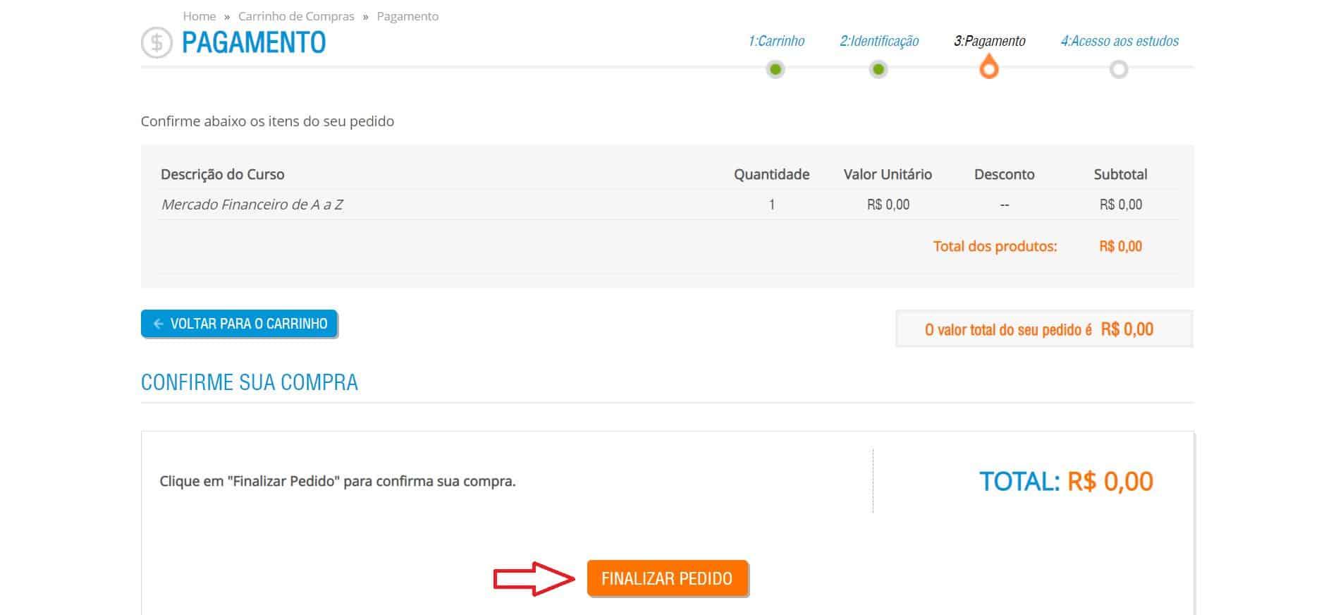Indicação de como concluir a matrícula no site da ANBIMA