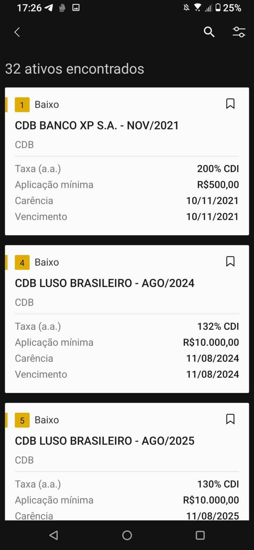 renda fixa do app