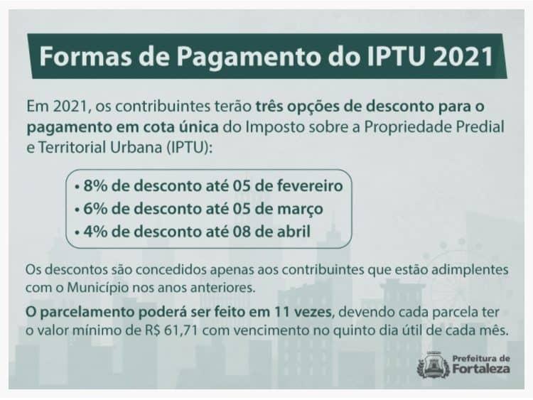 Formas de pagamento do imposto predial em Fortaleza