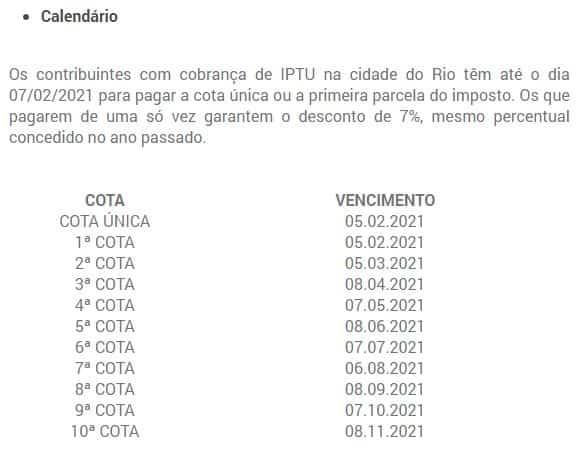 Opções de pagamento do imposto predial 2021 Rio de Janeiro