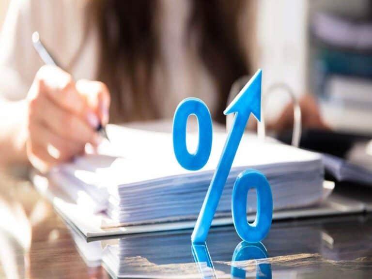 símbolo de percentual, representando inflacao em 2020