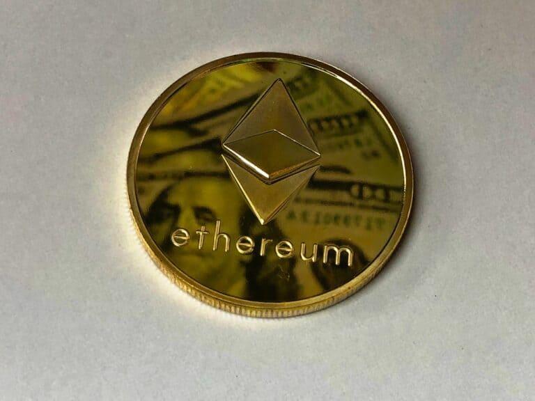 moeda de ethereum, que teve valorização