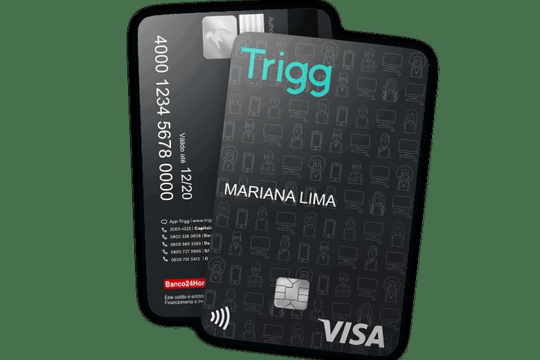 Imagem do cartão trigg, uma opção de cartão com cashback