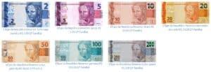 cédulas de dinheiro em espécie