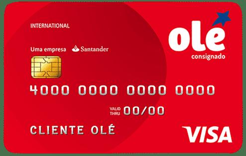 Imagem do cartão de crédito para negativado Olé Card