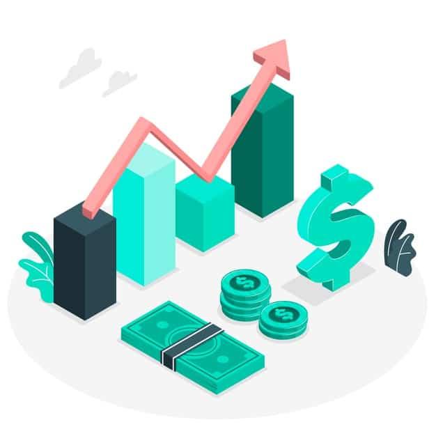 Figura mostra dinheiro e símbolos de investimentos que são documentos para o imposto de renda