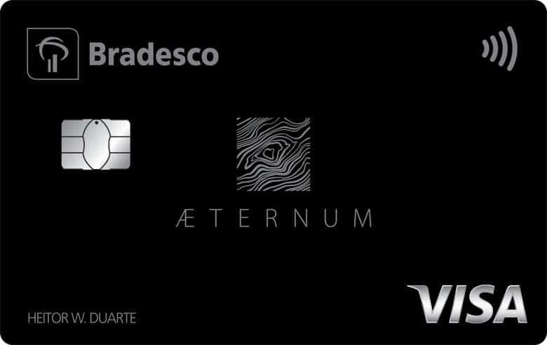 Imagem do cartão Bradesco Aeternum Visa Infinite