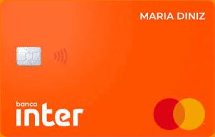 Imagem do cartão Inter, um dos melhores cartões de crédito sem anuidade
