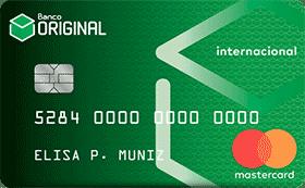 Imagem do cartão Original, uma opção de cartão de crédito com cashback