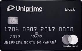 Imagem do cartão Uniprime Mastercard Black