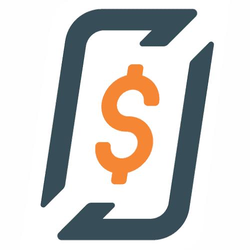 Logomarca da empresa RecargaPay, que oferece cartão de crédito pré-pago