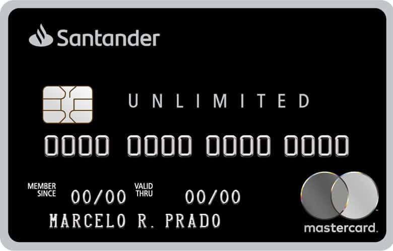 Imagem do cartão santander unlimited