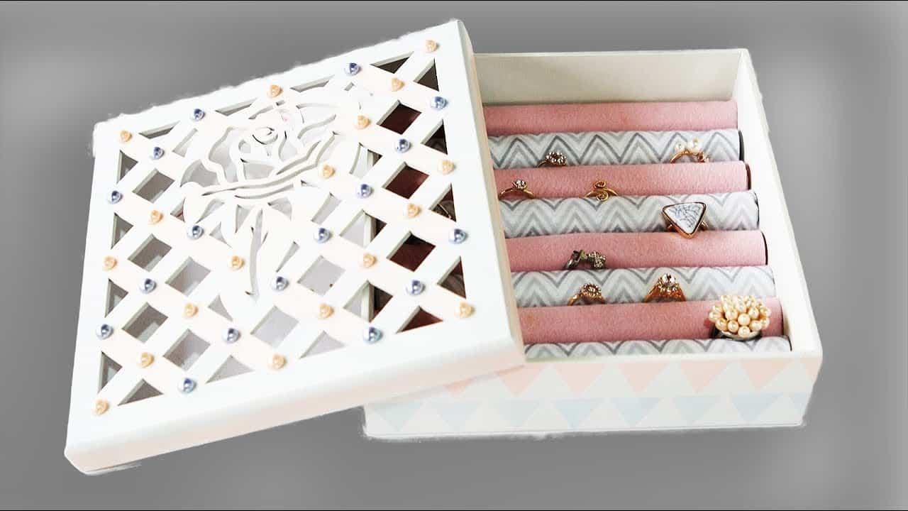 caixa decorada para guardar anéis