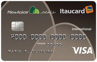 Cartão Pão de Açúcar Mais Itaucard Internacional Visa