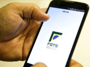 Interface do aplicativo do FGTS, representando Uso do FGTS para quitar parte do financiamento pelo SFI