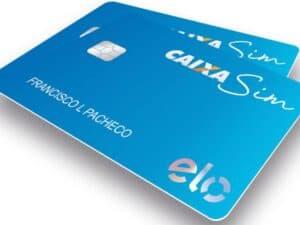 Cartão de crédito Caixa Sim Visa representando cartão de crédito para quem está com score baixo
