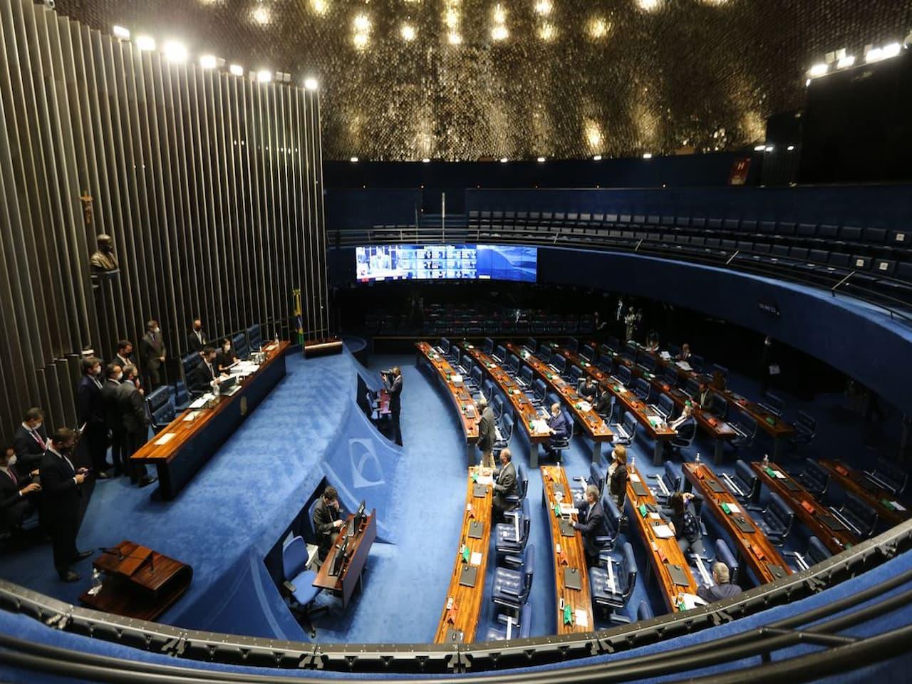 vista aérea do Senado representando despejo de imóveis alugados