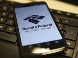Interface do aplicativo da Receita Federal representando terceiro lote IRPF