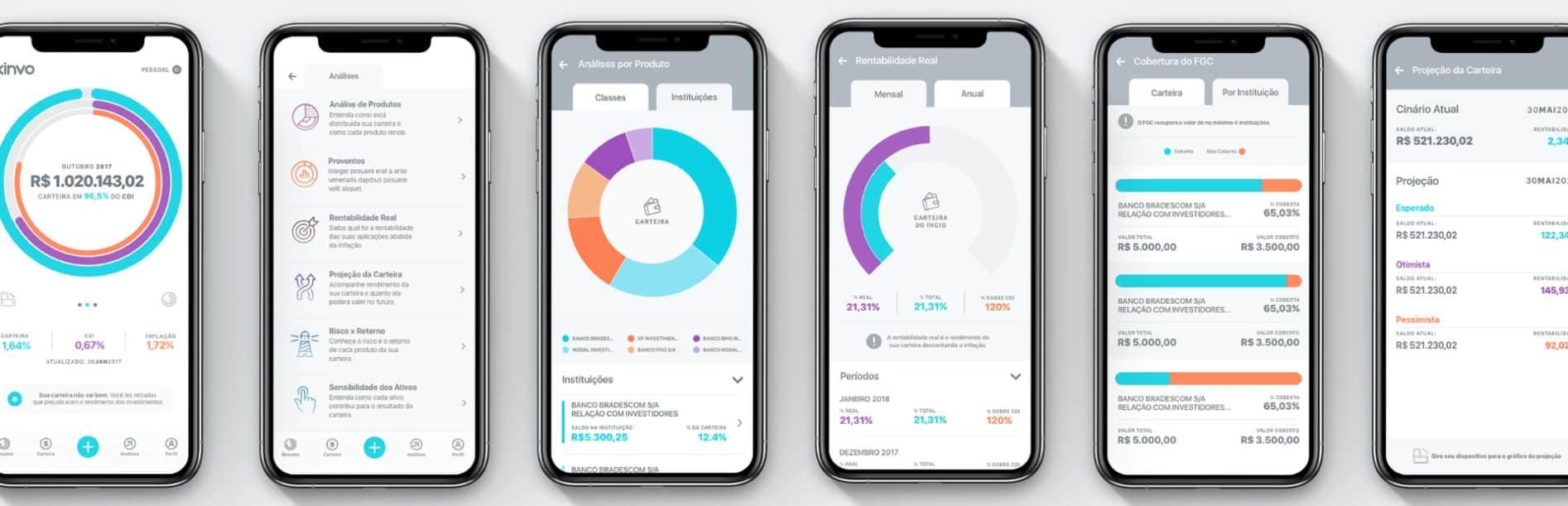 funcionalidades do kinvo app
