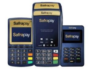 imagem com os três modelos da safrapay para ilustrar o texto da máquina safrapay é boa