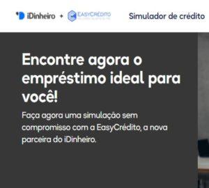 empréstimo EasyCrédito em parceria com o iDinheiro