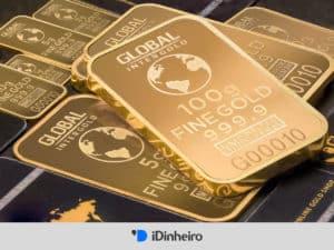 barras de ouro representando como investir em ouro no brasil